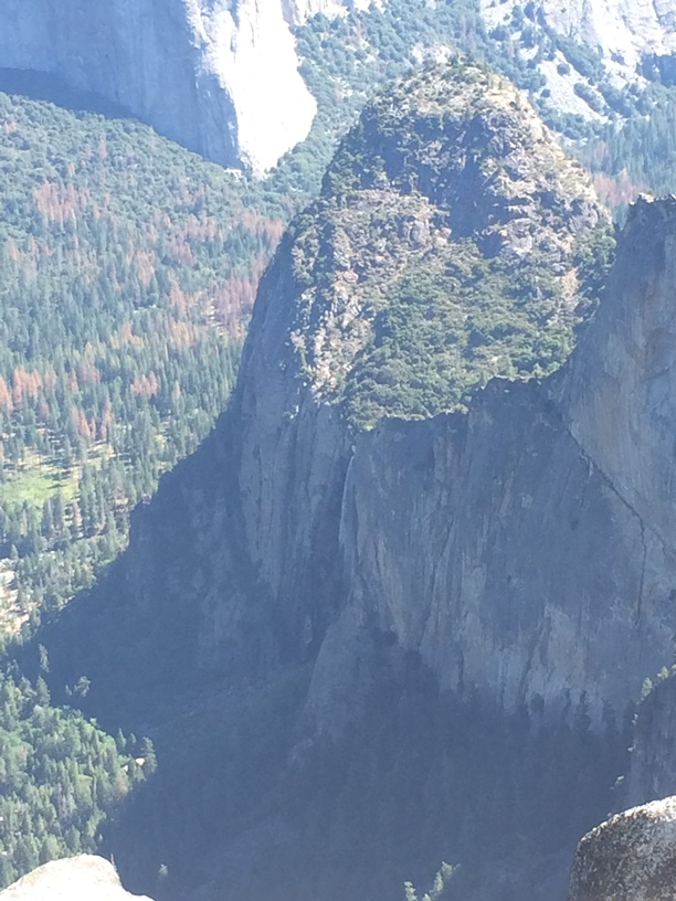 Looking down on Bridalveil Falls