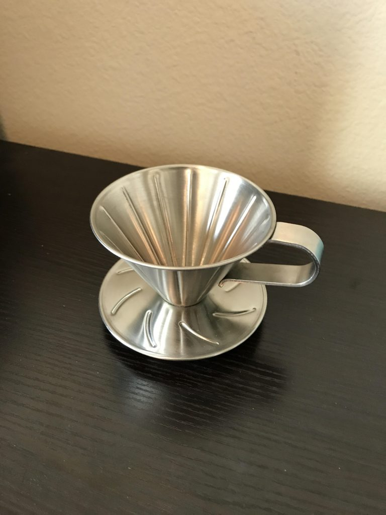 And a coffee pour-over contraption, because I forgot to put it in the last picture.